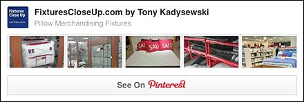 Pillow Merchandising Fixtures Pinterest Board for FixturesCloseUp