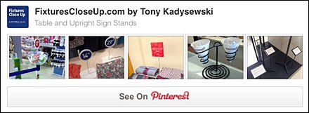 Table and Upright Stands Pinterest Board