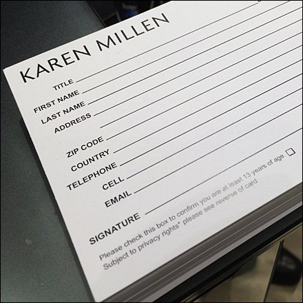 Karen Millen Op-In Customer Card Main2