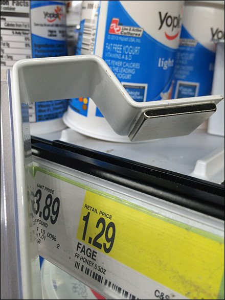 Magnetic Up-and-Over Shelf Edge Mount