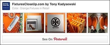 Orange Retail Fixtures Pinterest Board