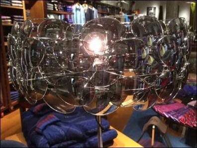 Robert Graham Sunglass Lampshade Display