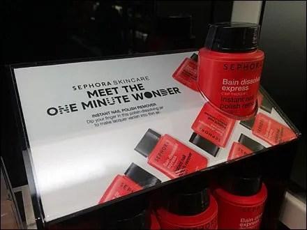 Sephora One-Minute-Wonder Promotional Display