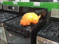 Inflatable Stove-Top Turkey as Prop