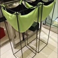 Cloth Pouch Bins in Green Main