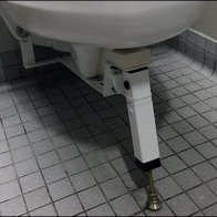 Kick-Stand Equipped Toilet