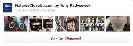 Licensing and Sponsorship FixturesCloseUp Pinterest Board