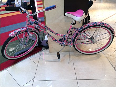 Lilly Pulitzer Bike Cancer Awareness 2