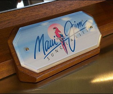 Maui Jim Mirror Logo Closeup