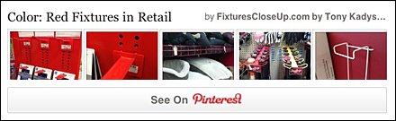 Red Store Fixtures in Retail Pinterest Board as FixturesCloseUp