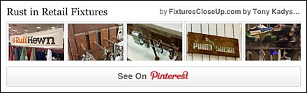 Rust as Retail Fixture Finish Pinterest Board for Fixtures Close Up