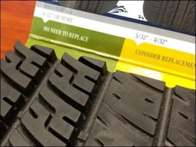 Good-Bad-Worse Tire Tread POP Display