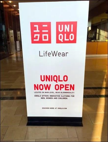 UNIQLO Mall Advertising Signboard
