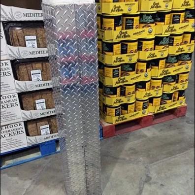Diamond Plate Bumper Guard for Columns Aux