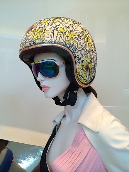 Dior Vespa Fashion Helmets for Scooters