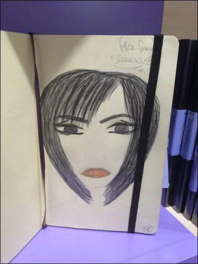 Moleskine Face Frame Sketchbook Aux