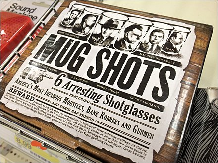 Mug-Shot Shot Glass Merchandising