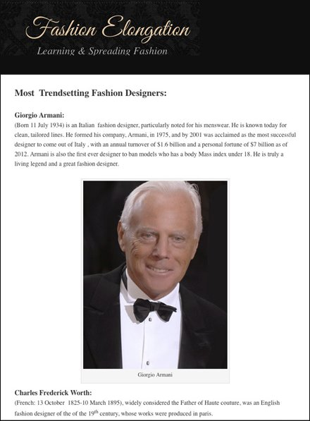 Fashion Elongation Most Trendsetting Fashion Designers in the World