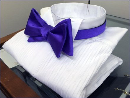 Full-Dress Purple Bow Tie Angled
