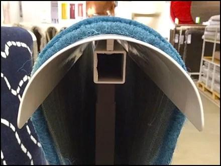 Un-Kinking Carpet Display at IKEA