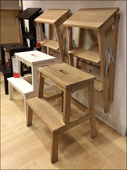 Ikea Step Stool Staging In Store Fixtures Close Up