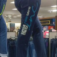 Billboarding Color Coded Jeans Blue