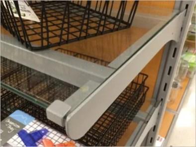 Brace Supported Glass Shelf 3