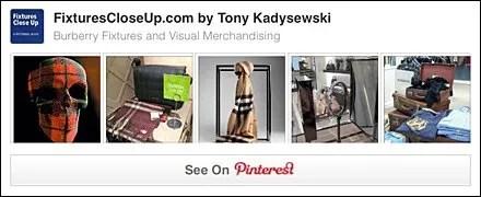 Burberry® FixturesCloseUp Pinterest Board