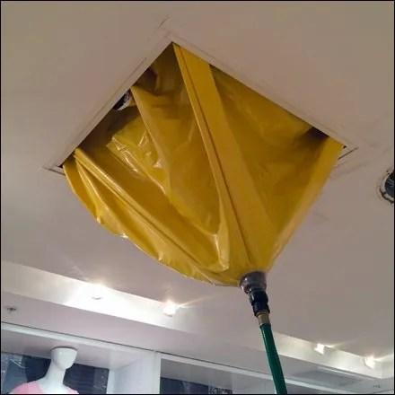 Roof Diapers for Retail Leak Repair