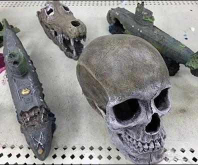 Sponge Bob Aquarium Accessories Skull