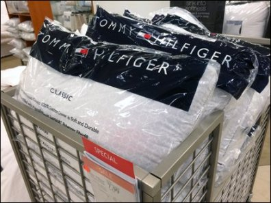 Tom Hilfiger Pillow Bulk Bin on Wheels Closeup