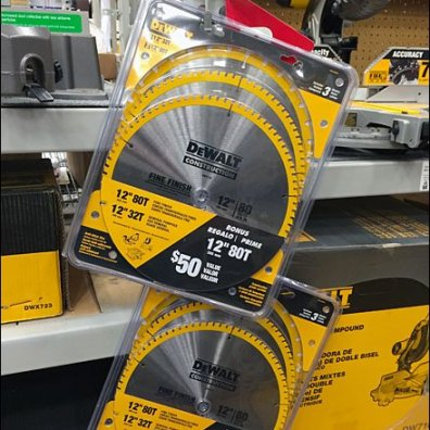 DeWalt Circular Saw Blade Strip Merchandiser Aux