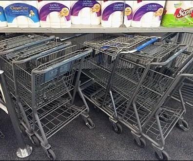 Diagonal Shopping Cart Park 2