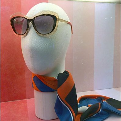 Fendi Summer Scarf and Sunglass Headform Aux