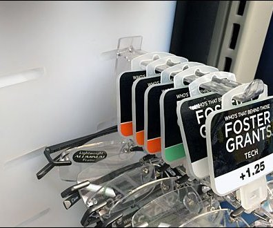 Foster Grant Branded Butterfly Slot Hook