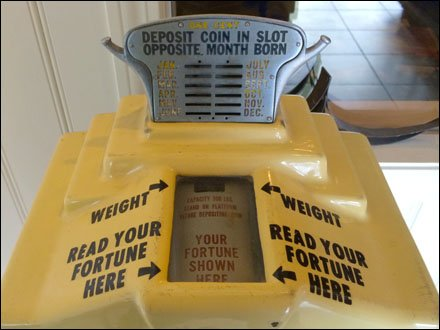 Store-Entry Fortune Telling and Weigh Scale