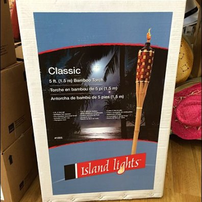 Island Lights Tiki Torch POP Closeup