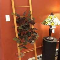 Ladder as Floral Trellis Overall