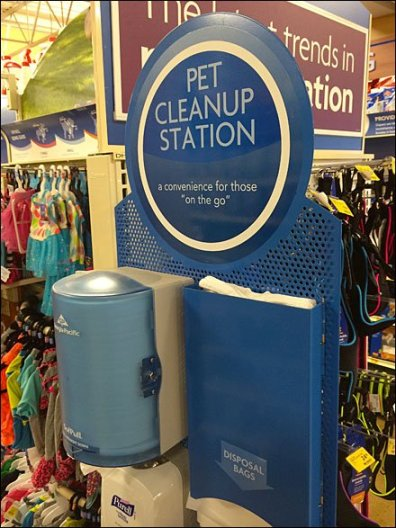 Pet Cleanup Station Outfitting In-Store