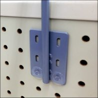 Push-Pinned Sign Arm Backplate Detail