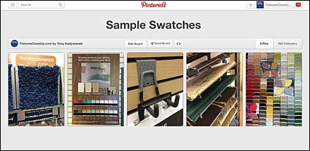 Sample Swatches on Pinterest