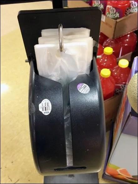 Shielded Produce Bag Dispenser Main
