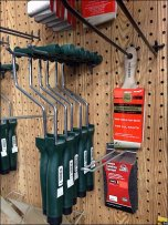 Wood Wainscoted Pegboard In Hardware Retailing