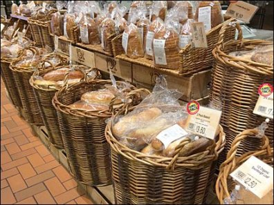 Wall of Wicker Bread Baskets Main