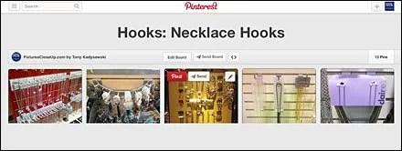 Hooks_ Necklace Hooks Pinterest Board