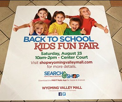 Back to School Kids Fun Fair Floor Graphic Aux