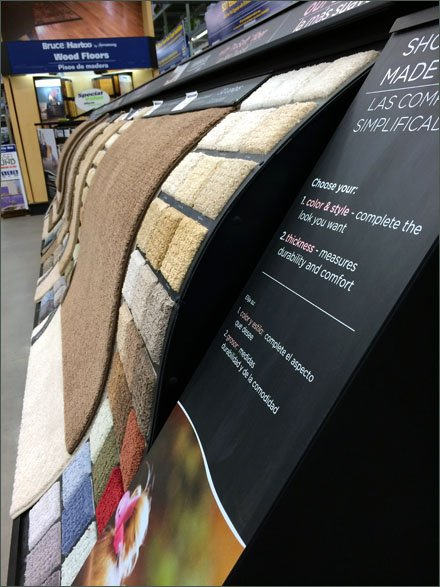 Waterfall Carpet Display Cascades In-Store