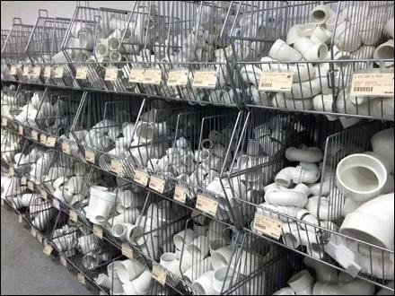 PVC Fittings in Endless Basket