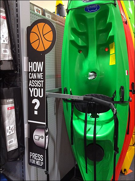 Kayak Call Button in Sporting Goods