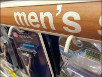 Light-Weight Hook Auto Feed for Men's Shaving Wares